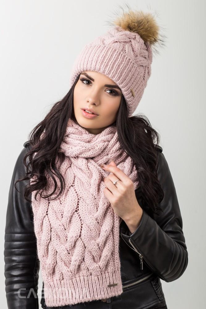 581557e79f72 Caskona MONICA B ШАПКА+ШАРФ пудра, купить комплекты шапок и шарфов ...